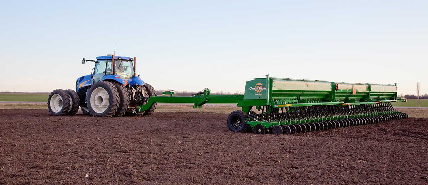 New Holland Tractor and Great Plains Planter