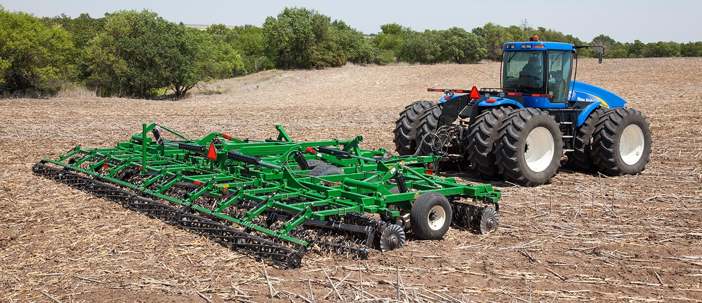 New Holland Tractor and Great Plains Tillage